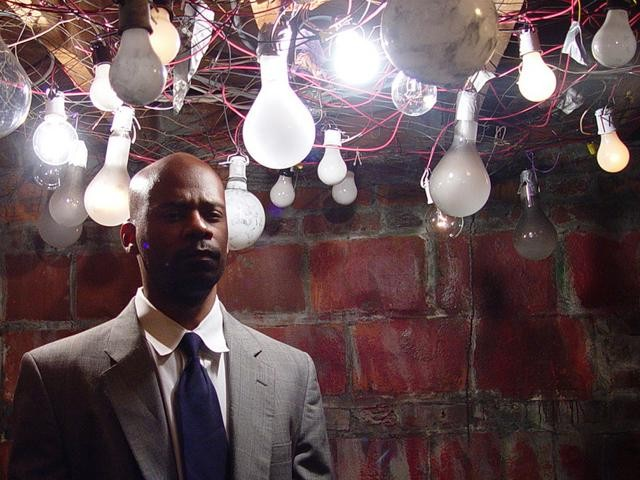 A light bulb goes on: Still from Jefferson Pinder's Invisible Man, 2005, digital video. Image courtesy of the artist