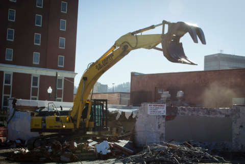 City demolishes abandoned buildings on Haywood-attachment0