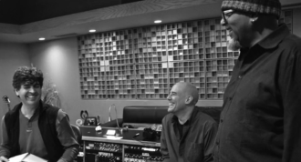IT TAKES A VILLAGE: David Lamotte's forthcoming album The Other Way Around calls on many artistic contributors like producers Chris Rosser, left, and Tom Prasada-Rao, right. Other guest players include Ed King of Lynyrd Skynyrd, Graham Sharp and Nicky Sanders from Steep Canyon Rangers, Tim O'Brien,David Holt and David Wilcox.