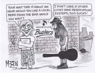CARTOON-Molton-Buskers Reservations