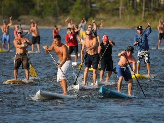 "FLOAT ON: Autism Society of North Carolina is hinging its next fundraiser around competitive paddleboarding. But, ""If you don't want to race, you can definitely enjoy Paddlefest,"" says organizer Mary Catherine Ward. That area of the event involves leisurely demo rides on multiple watercraft."