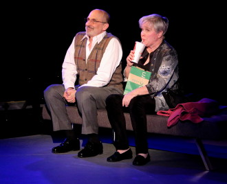 "Phillip Hoffman and Nancy Opel perform in ""Curvy Widow."" Photo by Nina Swann"