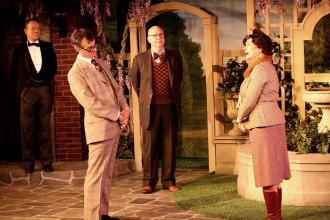Michael MacCauley, Scott Treadway, Charlie Flynn-McIver and Callan White star in Jeeves in Bloom at NC Stage.