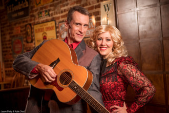 Jason Petty and Katie Deal star in Classic Nashville Roadshow at Flat Rock Playhouse. Photo courtesy of Flat Rock Playhouse