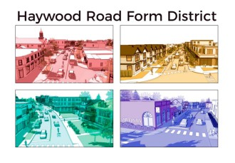 FUTURE FORM: At its Oct. 3 meeting, Asheville City Council will consider several changes to the Haywood Road form-based code to allow more flexibility of building projects. Image courtesy of the city of Asheville